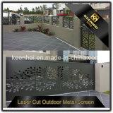 Panneau en aluminium perforé décoratif coupé par laser extérieur en métal