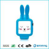 Caja protectora del silicón suave de los oídos de conejo de la historieta para el reloj el 1/2 de Apple