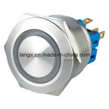 25mm 12V blaue LED Farben-momentaner Edelstahl 1no1nc Anti-Vandale Schalter