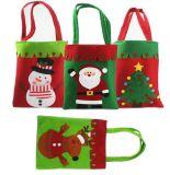 OEM Kerstmis Gevoelde het Winkelen van het Suikergoed Zak voor PromotieGift