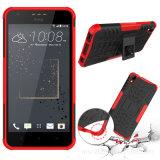 Caja híbrida del teléfono de Kickstand de la armadura de la capa dual para la forma de vida del deseo 10 de HTC