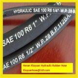 Einzelner Faser-umsponnener hydraulischer Gummischlauch-flexibler Schlauch