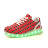 La PU luminescente del LED embroma los zapatos de los deportes LED