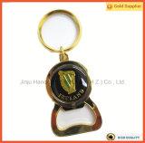 Консервооткрыватель бутылки Keychain сплава цинка золота Ирландии (JINJU16-110)