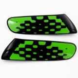 Cubierta negra protegida ULTRAVIOLETA material de la lámpara de la cara del reemplazo del estilo del verde vivo del color del ABS a estrenar para Mini Cooper F55 F56 (2PCS/Set)