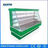 Réfrigérateur ouvert de fruit semi élevé de compresseur de plugin pour le supermarché