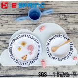 Stuoia di posto variopinta del silicone della stuoia di piatto della Tabella di figura della nube di disegno per il bambino