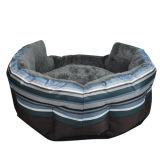 Base do gato do cão do sofá do animal de estimação da tira/casa verdes/azuis (KA0068)