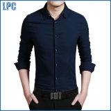 Geschäfts-Hemd der blauen Baumwollform-Männer