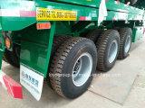 3 Flatbed Semi Aanhangwagen van assen voor Zware Vervoer van de Machine