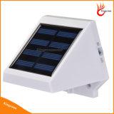 Im Freien 4 der LED-angeschaltene helle Solartreppen-Zaun-Garten-Sicherheits-Solarlampe imprägniern