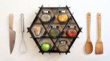 Do frame de madeira do vinho da prateleira da cozinha suporte de madeira do vinho do indicador do vinho da cremalheira do vinho