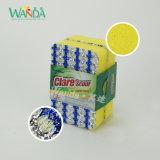 Teller-waschender Reinigungs-Schwamm-Schaumgummi-Schwamm-Reinigungsapparat mit Ineinander greifen-Tuch