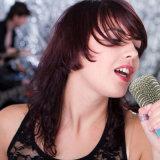 Microfone do karaoke do telefone móvel o mini, punho prendeu o altofalante do Ative do condensador