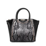 2017 Spring New Fashion Python Snake Pattern Studded Handbag Leisure Shoulder Bag