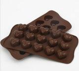 Инструменты выпечки силикона формы сердца пекут прессформу шоколада торта подноса льда