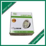 Caixa de papel de empacotamento de dobramento impressa costume da luz do diodo emissor de luz