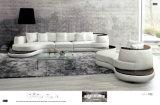 Grande sofá de canto para em forma de u secional do couro moderno do sofá