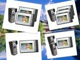 4 Deurbel van de Telefoon van de Deur van de Intercom van de Hand van de draad de Vrije Video