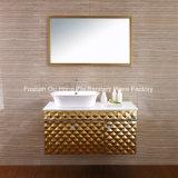 金カラーのカスタマイズされた贅沢な浴室の虚栄心の浴室用キャビネット