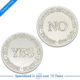 Pièce de monnaie de souvenir argenté en métal 3D d'OEM vieille
