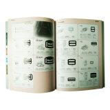 Professioneller kundenspezifischer Papiereinbander gedruckter Produkt-Katalog