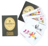 Guinness personalizou os cartões de jogo de papel do póquer para a promoção