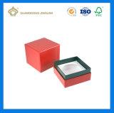 Caisse d'emballage de luxe fabriquée à la main personnalisée de cadeau de bougie de modèle (avec le trou découpé avec des matrices de bougie)