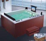 BALNEARIO de la bañera del masaje de la esquina del rectángulo de 1700m m con el Ce RoHS para 2 personas (AT-0505F TV DVD-1)