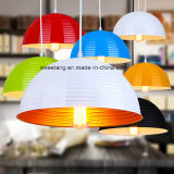Aluminio de interior simple moderno que cuelga la lámpara pendiente en restaurante