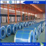 La alta calidad prepintó las bobinas de acero galvanizadas/el acero cubierto color Coils/PPGI para los materiales de material para techos