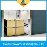 Лифт товаров груза перевозки передачи с желобчатым ведущим шкивом Vvvf материальный