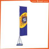 Bandeira do poliéster da pena de Pólo da fibra de vidro do anúncio ao ar livre