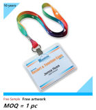 Талреп держателя вьюрка значка карточки винила Name/ID полиэфира изготовленный на заказ для значка удостоверения личности (NLC013)