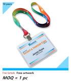 ID 기장 (NLC013)를 위한 폴리에스테 비닐 Name/ID 카드 기장 권선 홀더 주문 방아끈