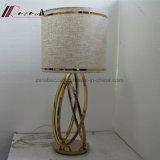Ухода за больным ткани гостиницы светильник таблицы чтения декоративного Linen Polished латунный