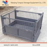 Jaula de malla plegable de acero resistente para almacenamiento en almacén