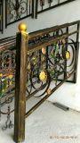 カスタマイズされた錬鉄の鋼鉄ドアの窓の格子デザイン