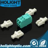 Om3 Optische Adapter van de Vezel van Aqua van de Vierling LC de Intensieve