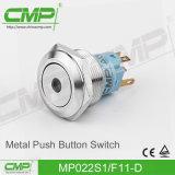 22mm Metalldrucktastenschalter mit Licht des Ring-LED