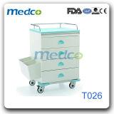 Medizinische Karren-Behandlung-Stahllaufkatze für Krankenhauspatienten