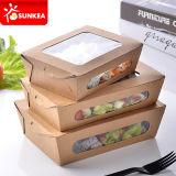 Fettdichtes kundenspezifisches Firmenzeichen gedruckter Packpapier-Salat-Kasten