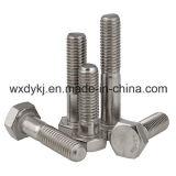 Boulon et noix de tête d'hexagone de matériel d'acier inoxydable avec demi d'usine de dispositif de fixation d'amorçage d'OIN 4014 de la Chine