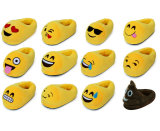 주문 견면 벨벳에 의하여 Whatsapp 채워지는 Emoji 슬리퍼