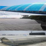 Polycarbonate&#160 transparente Uv-Revestido; Folha contínua ondulada para os painéis da telhadura