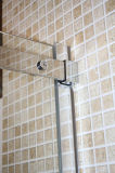 Recinto de desplazamiento de la ducha de la cabina del baño del cromo de la esquina