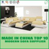 現代居間の革コーナーのソファ