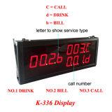 Rango largo que llama la señal sonora para el sistema sin hilos de la llamada del transmisor del restaurante 4-Button