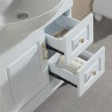 Vanidad del cuarto de baño de madera sólida con la cabina lateral