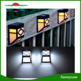 지능적인 옥외 점화 태양 에너지 방수 벽 빛 정원 담 램프, 지적인 가벼운 센서의, 백색 또는 온난한 백야 빛